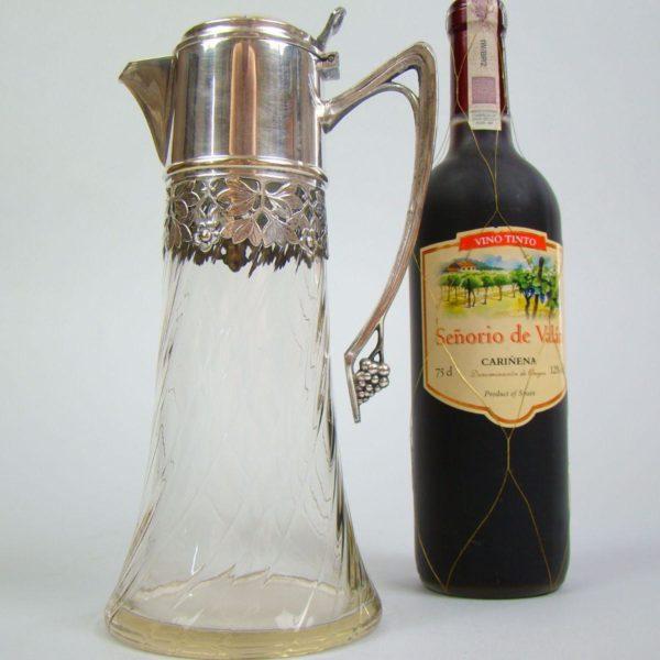 wiedeń secesyjny dzban winorośle