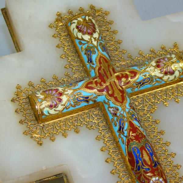 krzyż złocony