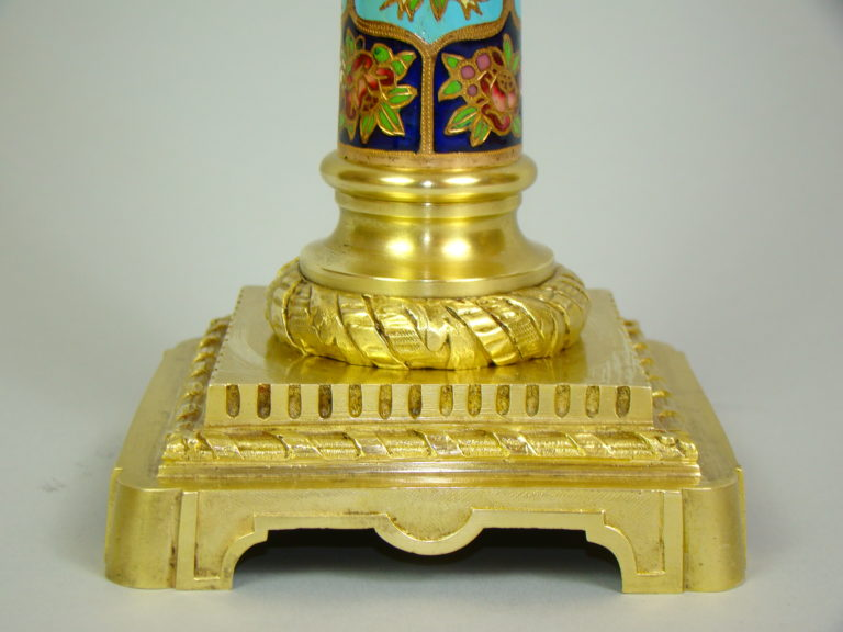 LAMPA  MOSIĄDZ ZŁOCONY MAJOLIKA UNIKAT