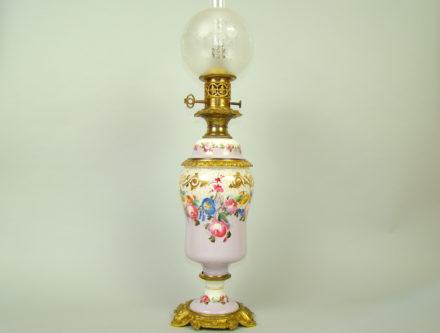RĘCZNIE MAL. LAMPA OLEJNA XIX-w SYG. BAŃKA A-1316