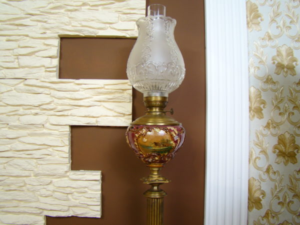 LAMPA GIGANT BAŃKA Z MAJOLIKI RĘCZNIE MAL. A-1311
