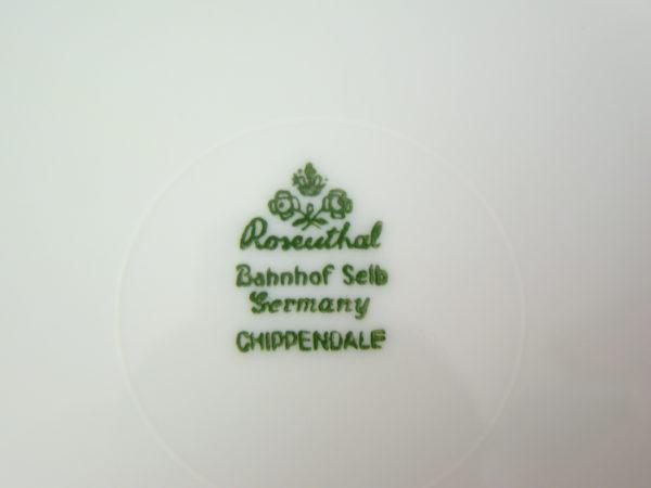 ROSENTHAL CHIPPENDALE KOBALT_SCENKA_ OKUTY SREBREM A-1368