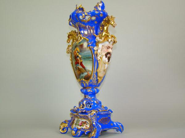BIEDERMEIER RĘCZNIE MALOWANY PARYŻ A-1449