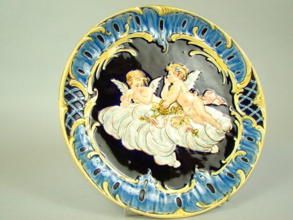 PLAKIETA GIGANTYCZNA RĘCZNIE MAL. SECESJA A-1565
