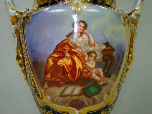 OLBRZYMIA LAMPA NAFTOWA RĘCZNIE MALOWANA A-1805